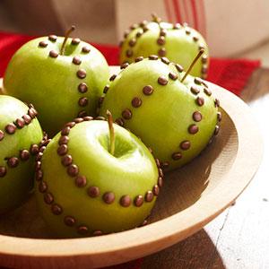 apples with brass brads