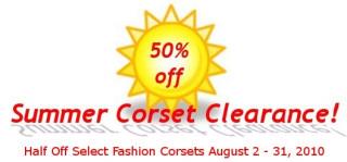 Summer Corset Clearance