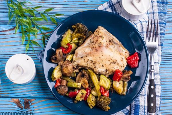 курица с овощами диетический рецепт