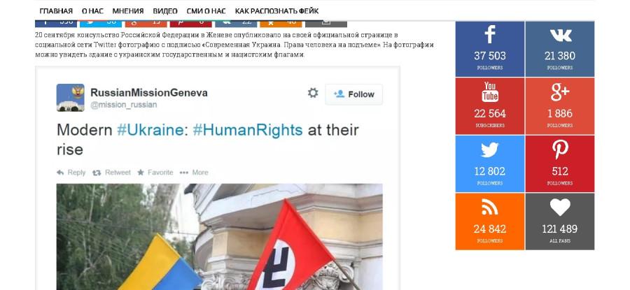 Фейк  флаг с нацистской свастикой в Украине2