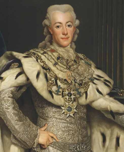 Александр Рослин. Портрет Густава III. 1777