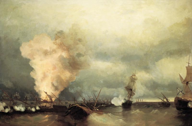 И.К. Айвазовский. Морское сражение при Выборге 22 июня (3 июля) 1790. (1846 – дата написания картины).