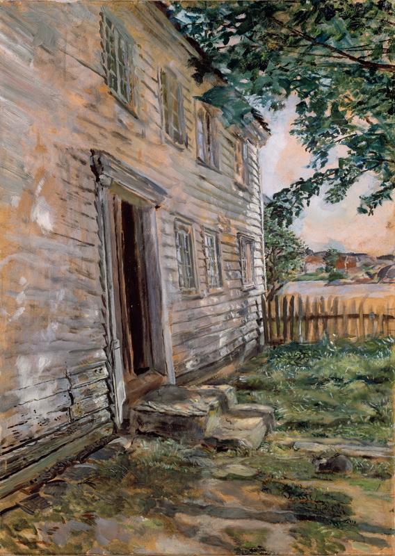Кристиан Крог (1852-1925) – Старый дом в Brekkestø