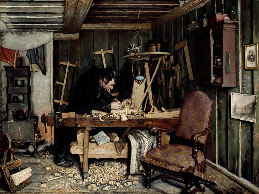 Густав Венцель (1859-1927) – Мастерская плотника