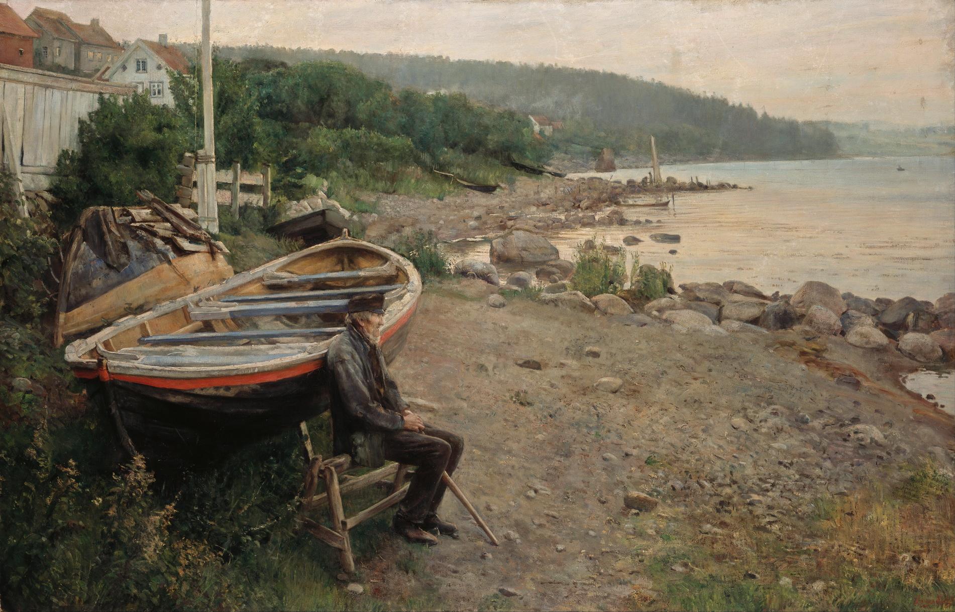 Ханс Хейердал (1857-1913) - Вид с Осгордстранда
