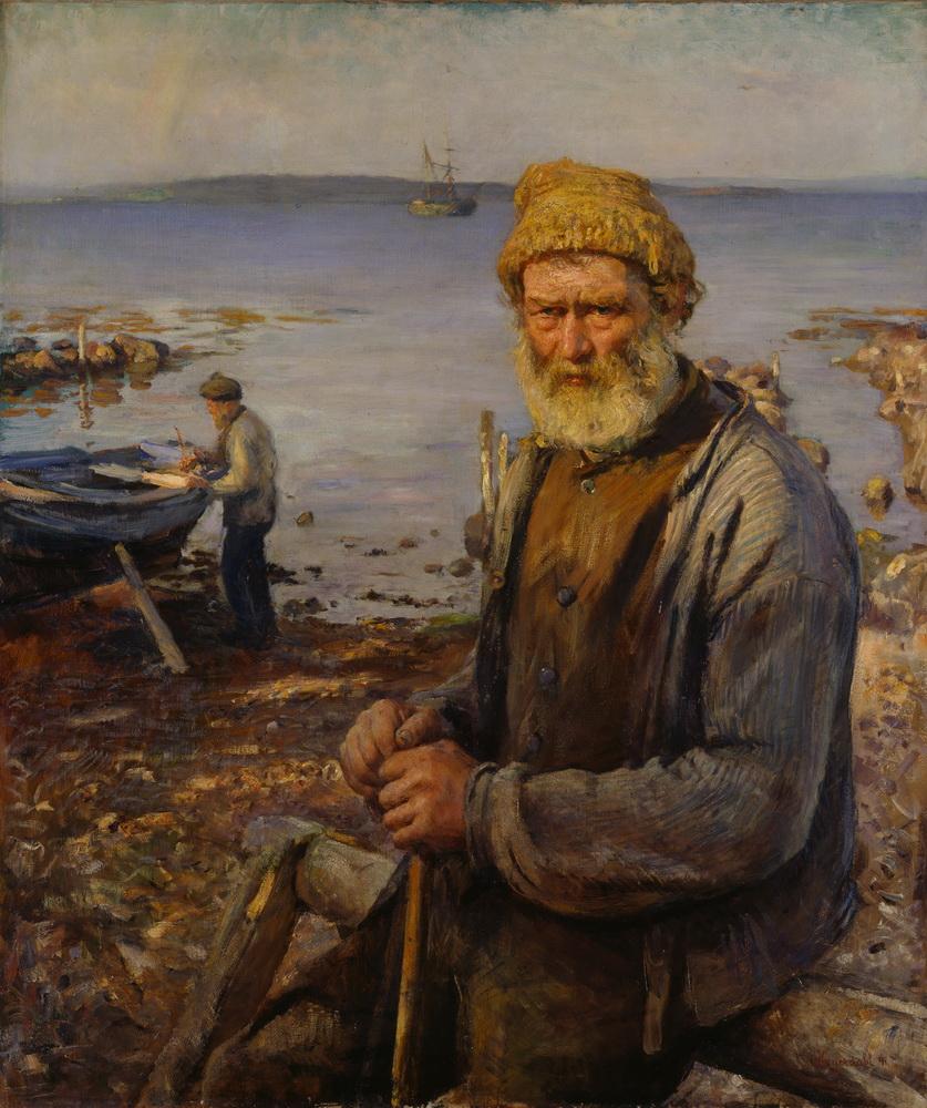 Ханс Хейердал (1857-1913) – Старый рыбак