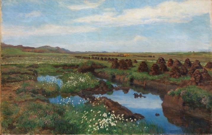 Китти Хьелланн (1843-1914) – Торфяные болота в Jæren