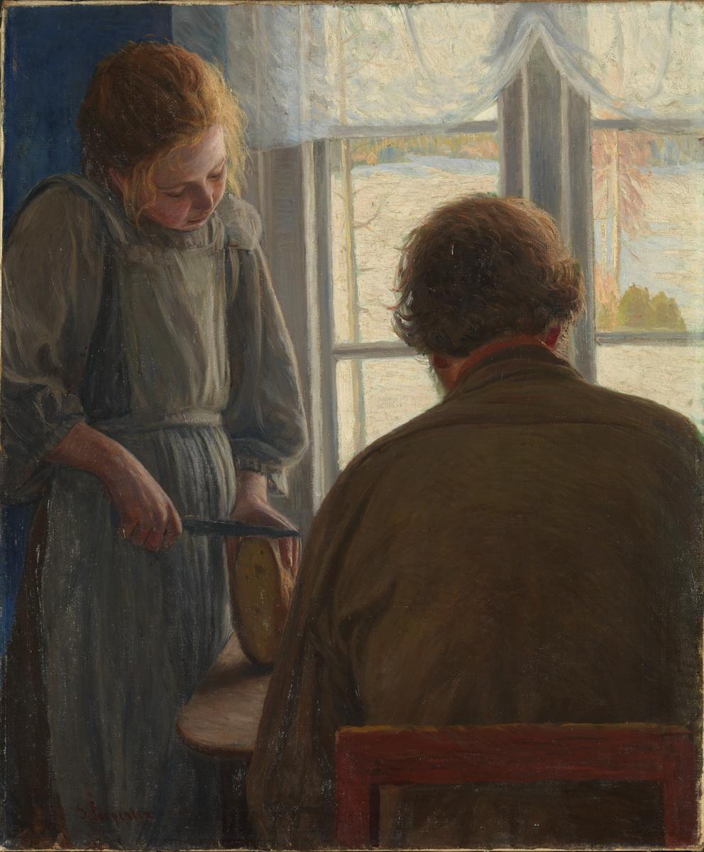 Свен Йоргенсен (1861-1940) – Et måltid (Русский перевод прост до ужаса – Еда)