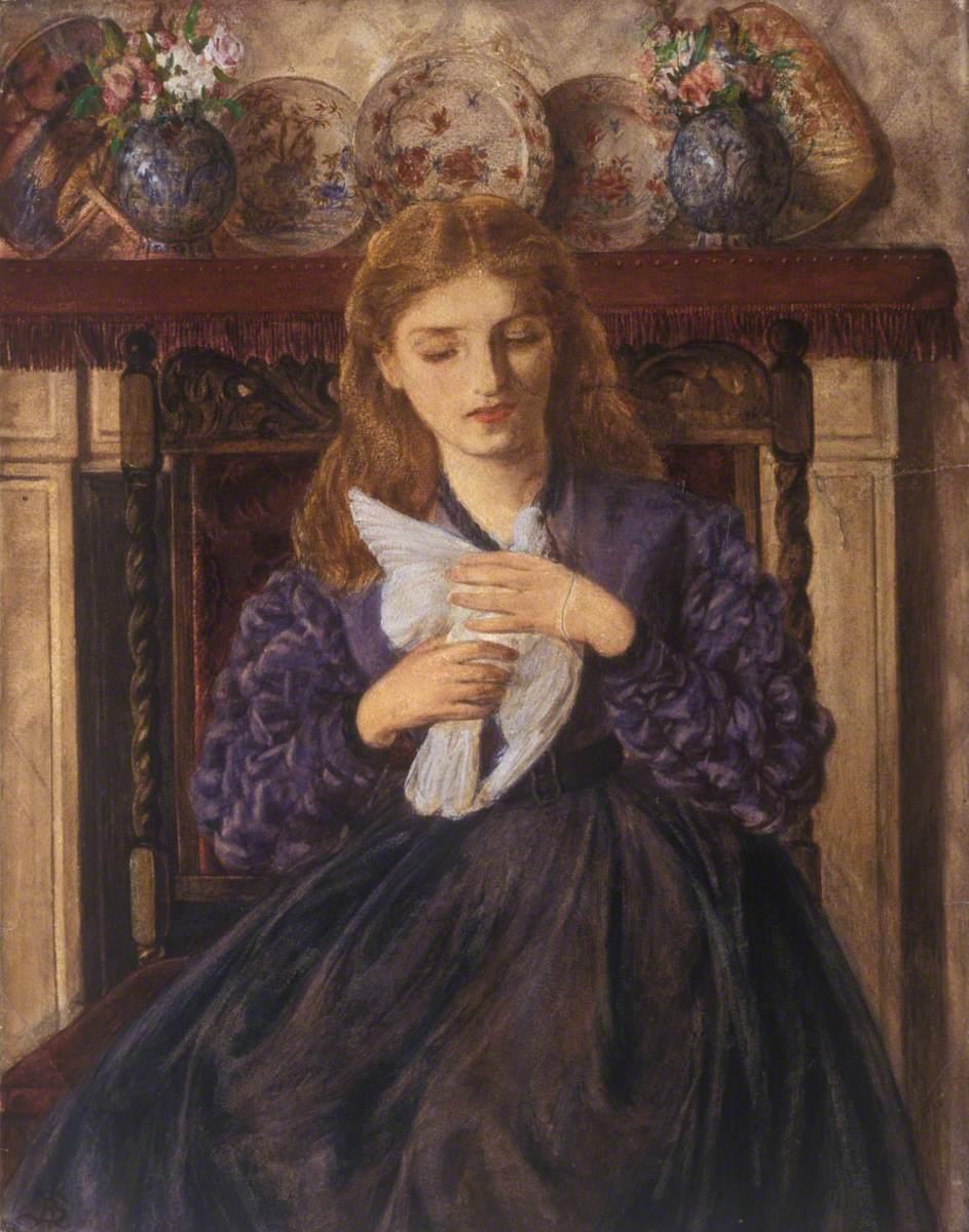 Ребекка Соломон. Раненый голубь. 1866
