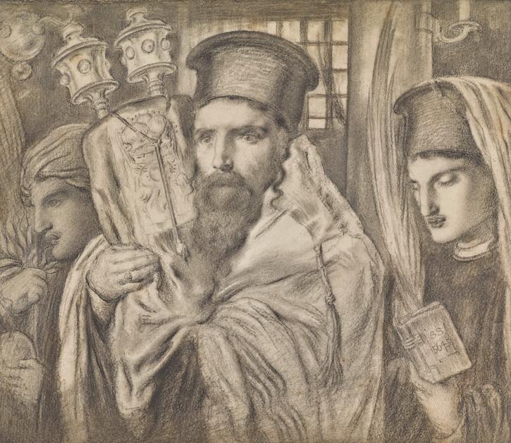 Симеон Соломон. Вынос Торы