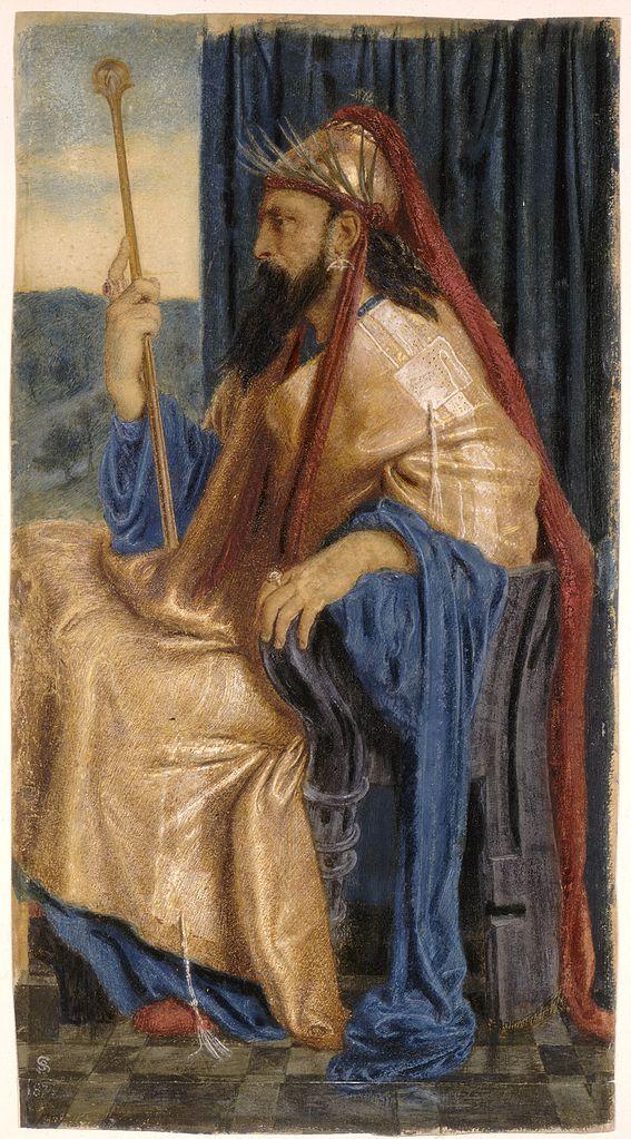 Симеон Соломон. Царь Соломон.