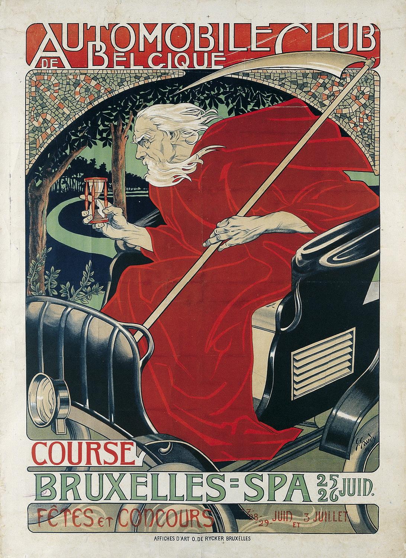 Жорж Гауди (1872-1940, Бельгия) – Автомобильный клуб Бельгии. Гонка Брюссель-Спа. 1898