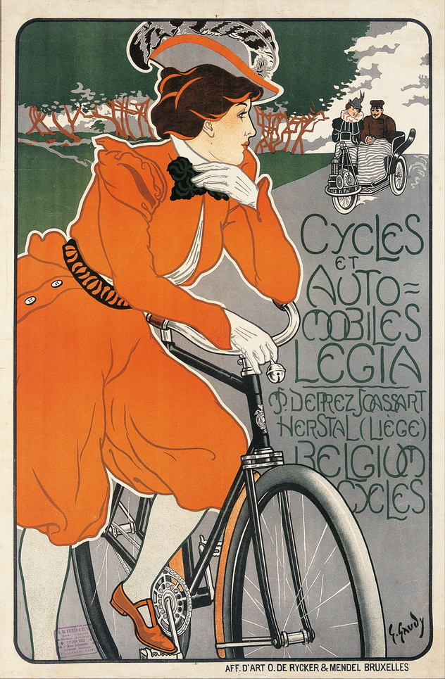 Жорж Гауди (1872-1940, Бельгия) – Лига велосипедистов и автомобилистов. 1898