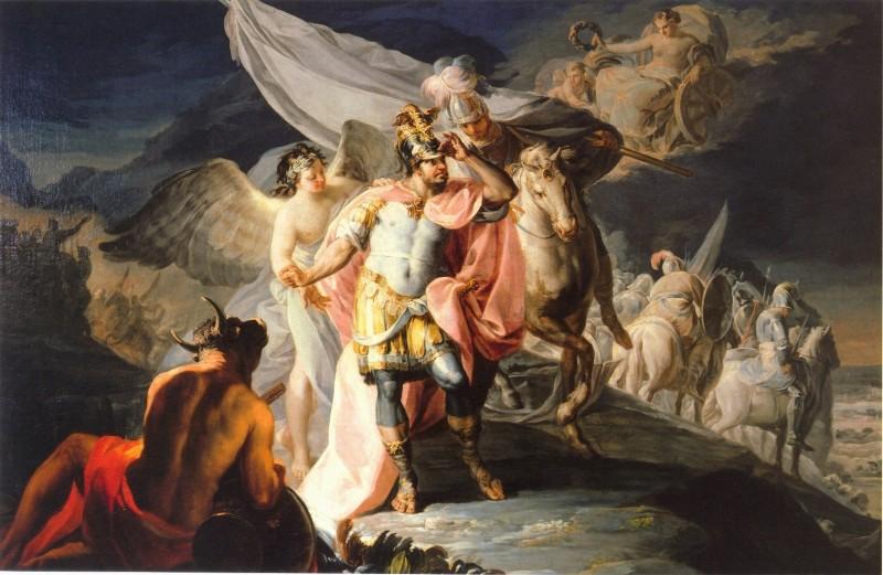 Франсиско Гойя. Ганнибал созерцает Италию с альпийских вершин. 1771