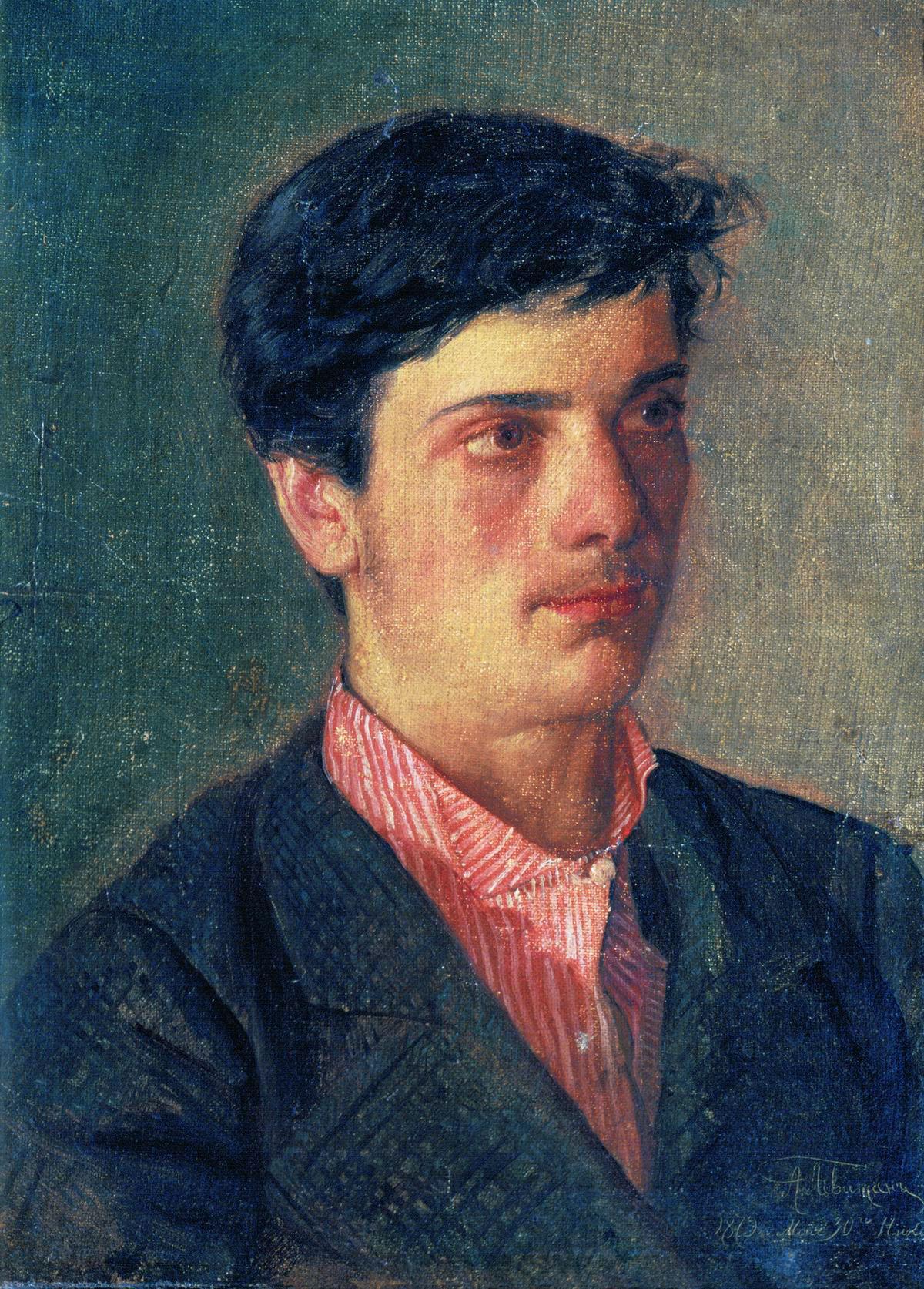 Левитан Авель Ильич (1859-1933) Считается, что на портрете младший брат художника Исаак Ильич Левитан. 1879. Государственная Третьяковская галерея.