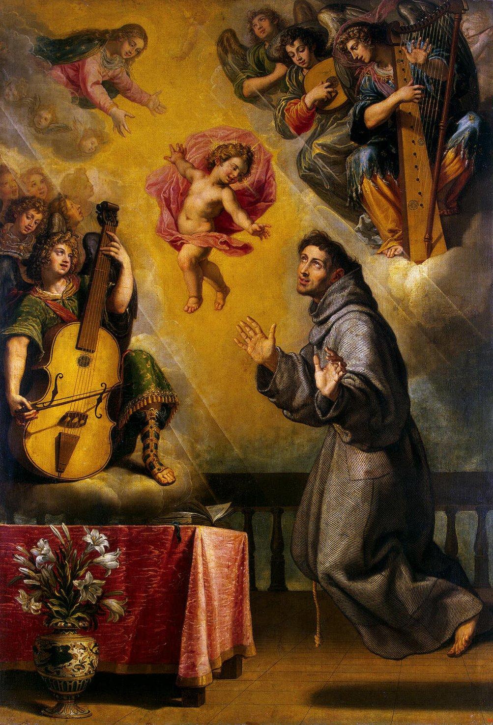 Винченцо Кардуччи (он же Висенте Кардучо, на испанский манер)(1576-1638, Флоренция-Мадрид) — Видение св.Антония Падуанского