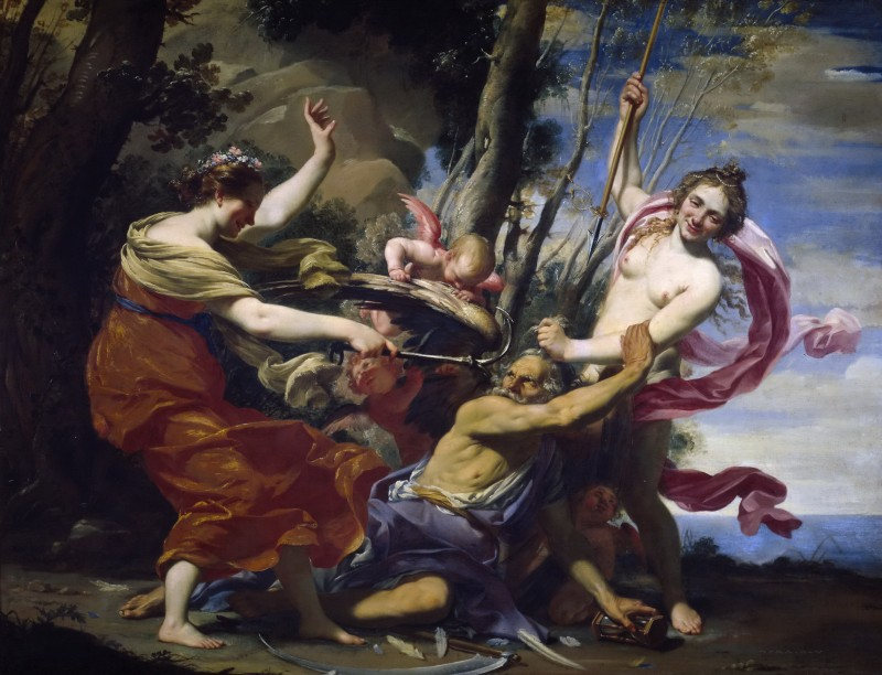 Симон Вуэ (1590-1649, Франция) Надежда, Любовь и Красота торжествуют над Временем. 1627. Прадо, Мадрид