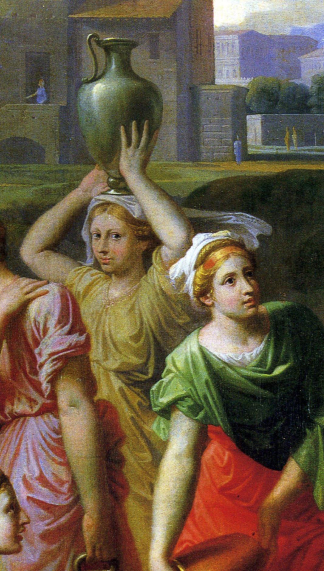 Никола Пуссен. Элиезер и Ревекка у колодца. 1648, фрагмент 3