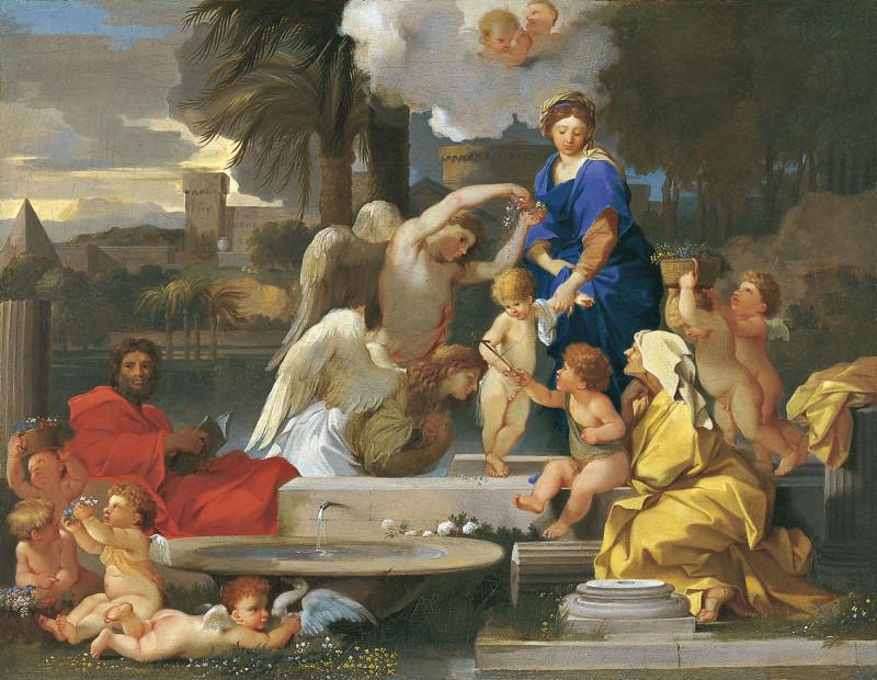 Себастьен Бурдон (1616-1671) Святое Семейство со святой Елизаветой и святым Иоанном