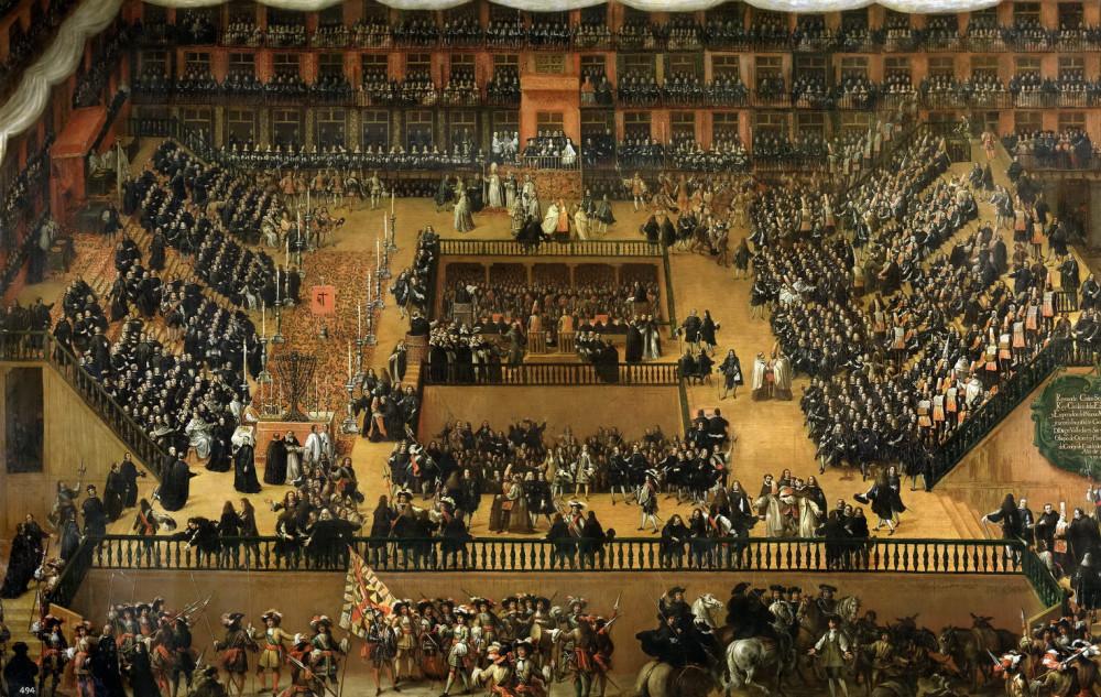Франсиско Рици (1608-1685) Аутодафе в Мадриде. 1683