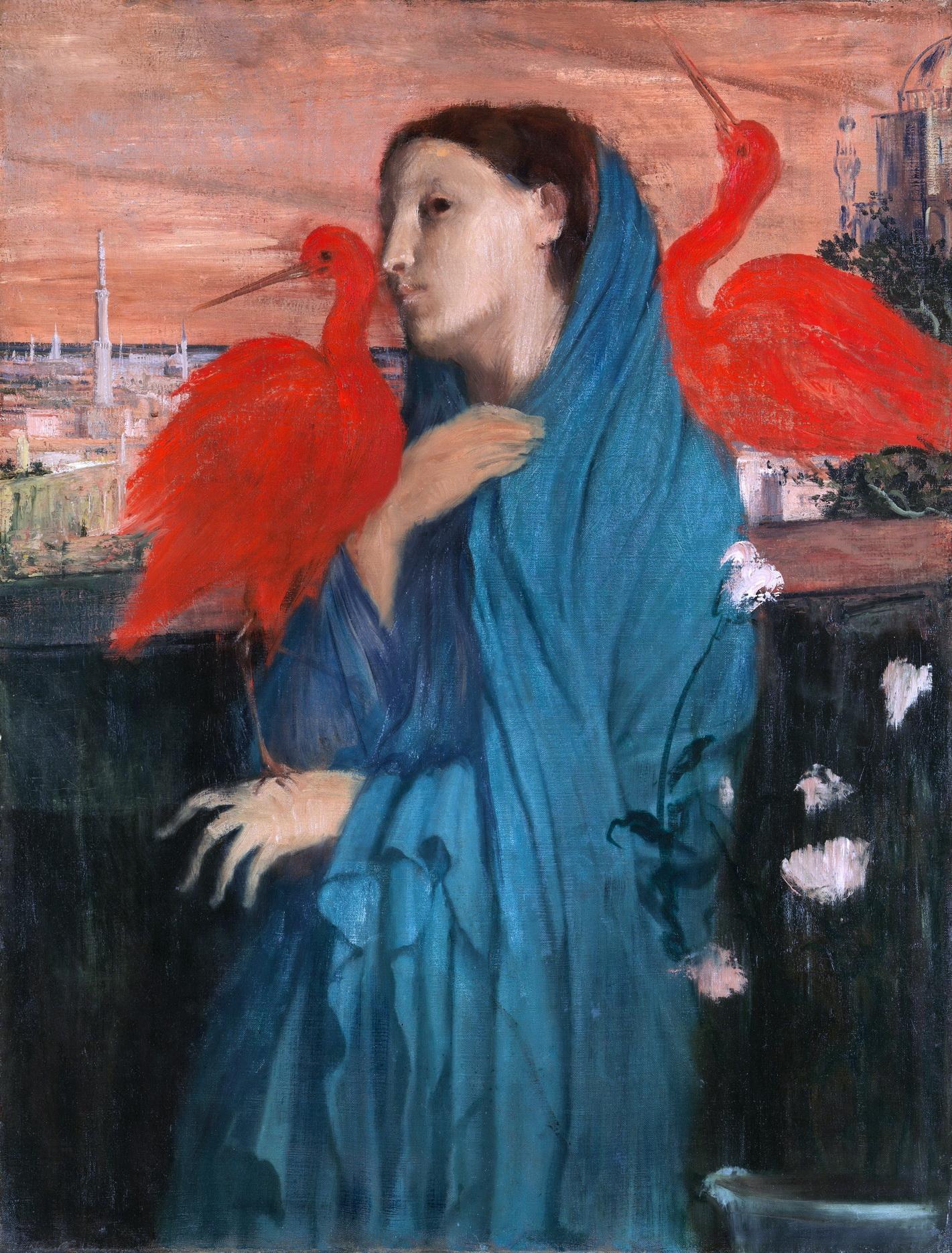 Эдгар Дега. Молодая женщина с ибисом. 1860-62