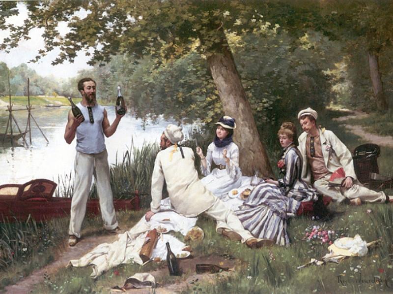 Жозеф Рожер Журден (1845-1918) Воскресенье. Остров Гран-Жатт