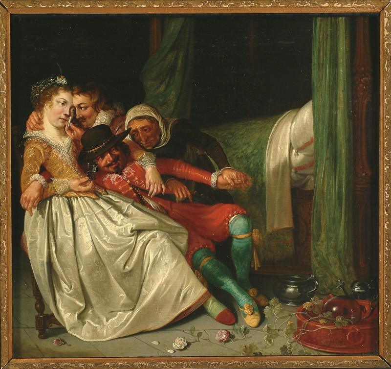 Хендрик Герритц Пот (Голландия)  — Сцена в борделе. 1620