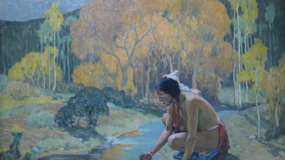 Ингер Ирвинг Каус (США, 1866-1936) Осенняя луна. 1927