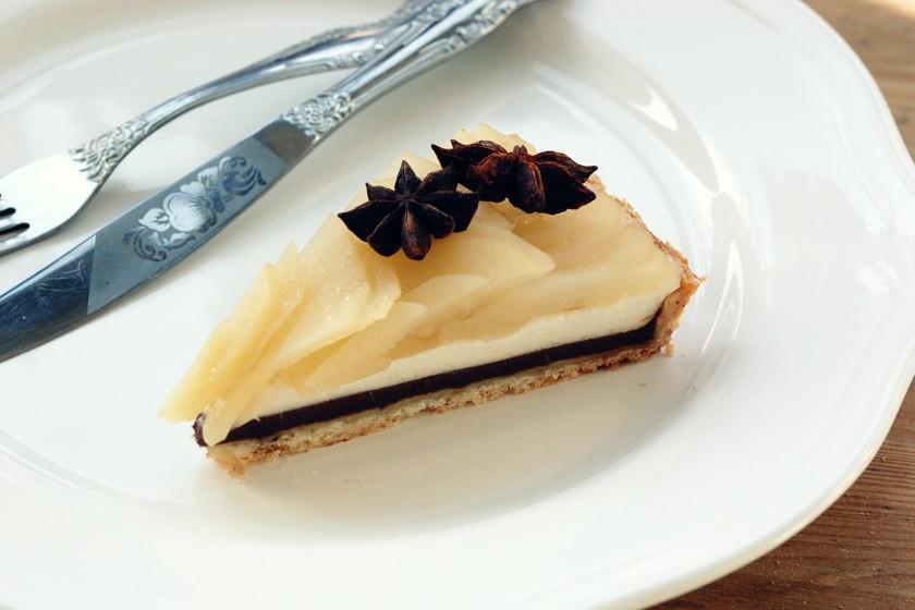 груша шоколад баваруаз кусок
