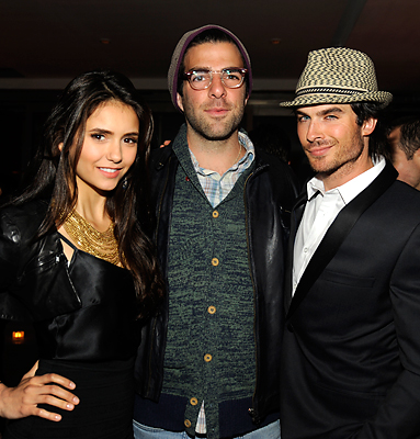 Zachary Quinto, Nina Dobrev an Ian Sommerhalder at InStyle Party 2011