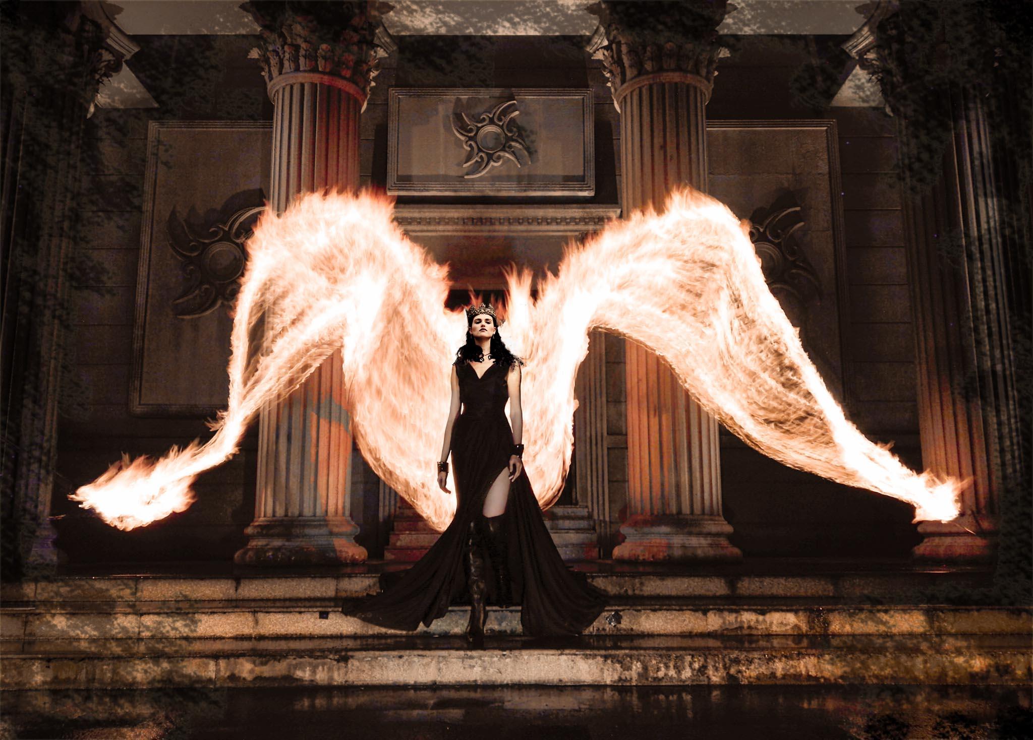 Как сделать ангельские крылья на