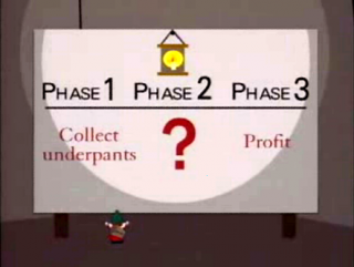 step 1: collect under pants; step 2: question mark; step 3: profit!