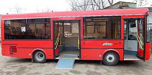 ПАЗ-3237. Трап для заезда колясок.