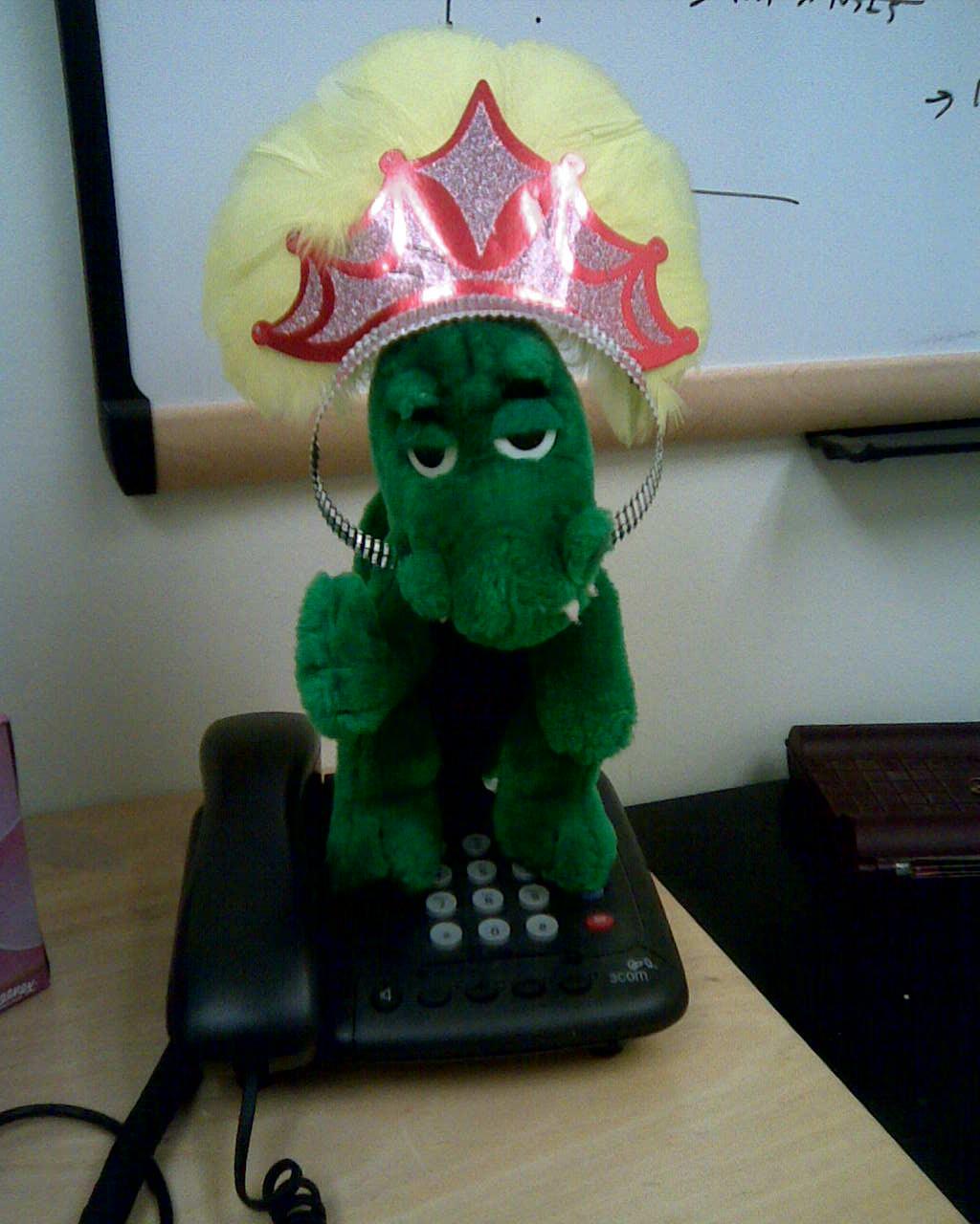 Princess Mozilla on the phone