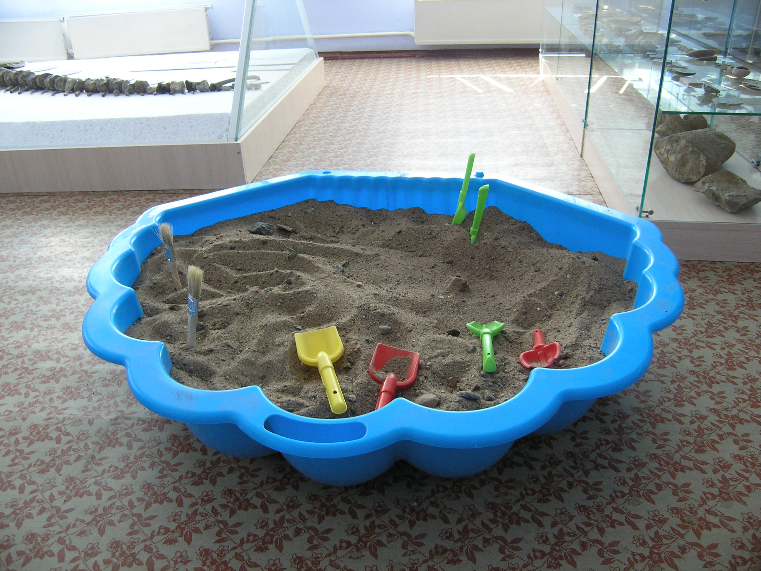 Зал палеонтологии - песочница