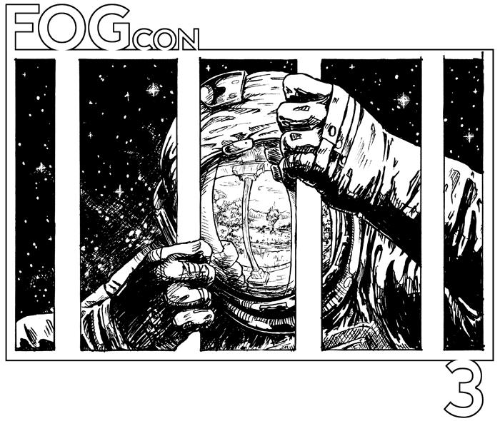 FOGcon 3 cover illo - astronaut behind bars