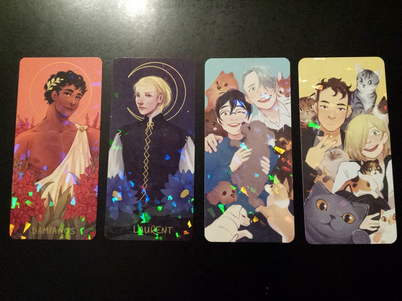 My haul of gorgeous bookmarks from hawberries