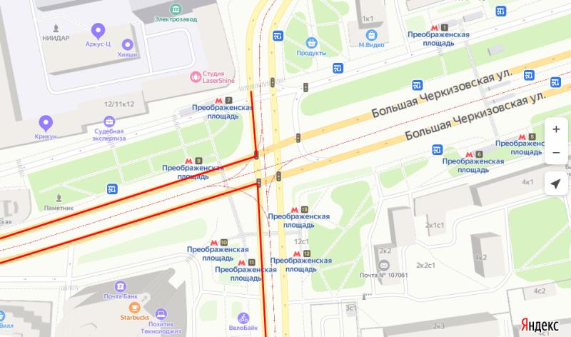 Рекомендуемое изменение маршрута по версии Яндекс-Навигатор. Мне надо было по прямой, без заезда куда либо.