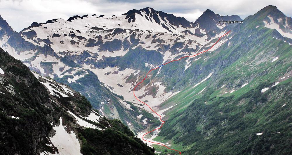 Отчет о путешествии (соответствующем горному походу 2 к.с.) по Западному Кавказу