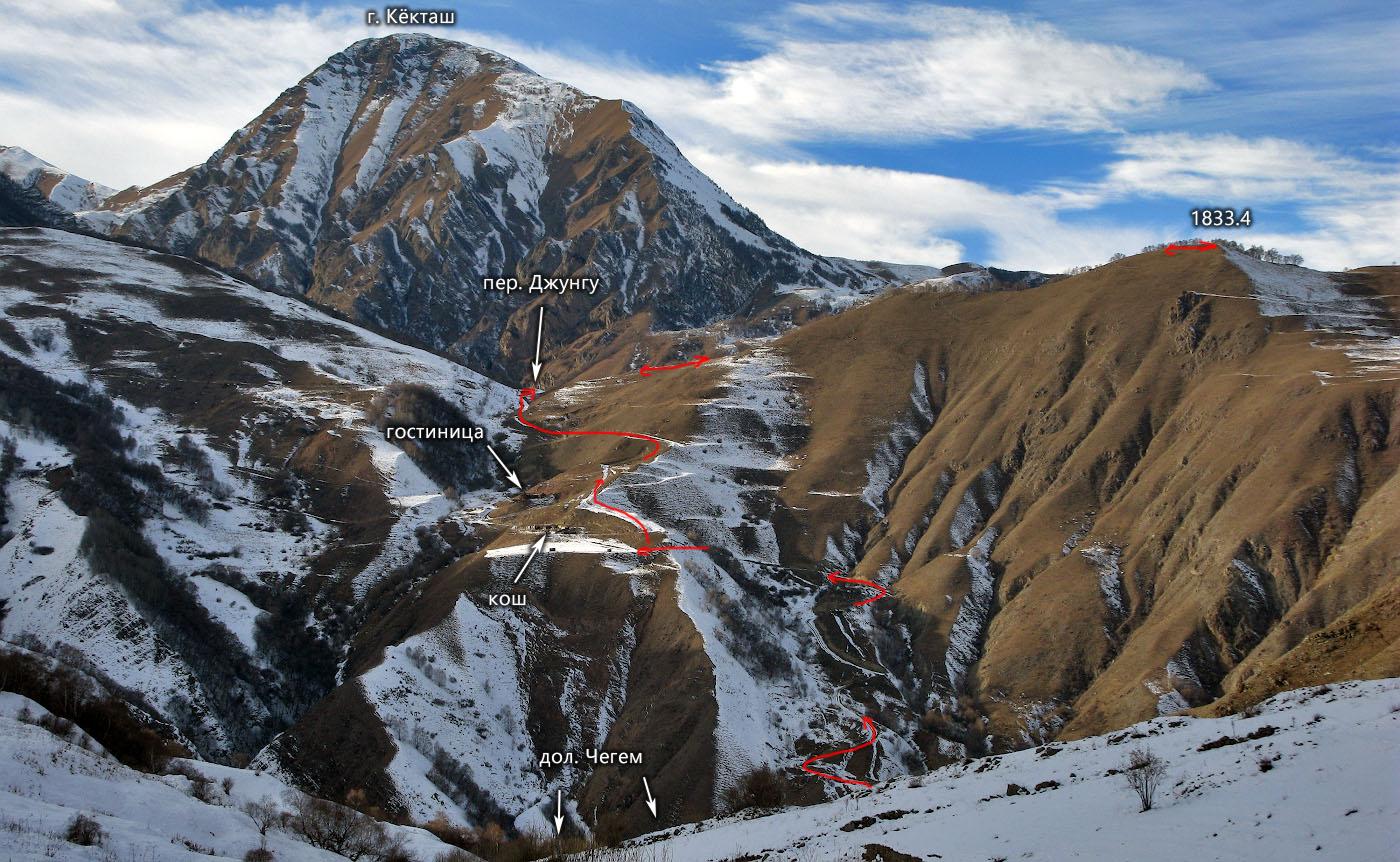 Отчёт о путешествии ~ 1 к.с. по среднегорью Центрального Кавказа в декабре 2020 - январе 2021 г.