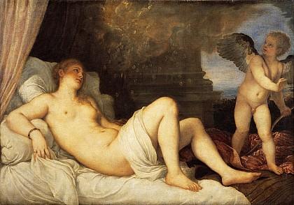 Даная с Зевсом в образе золотого дождя
