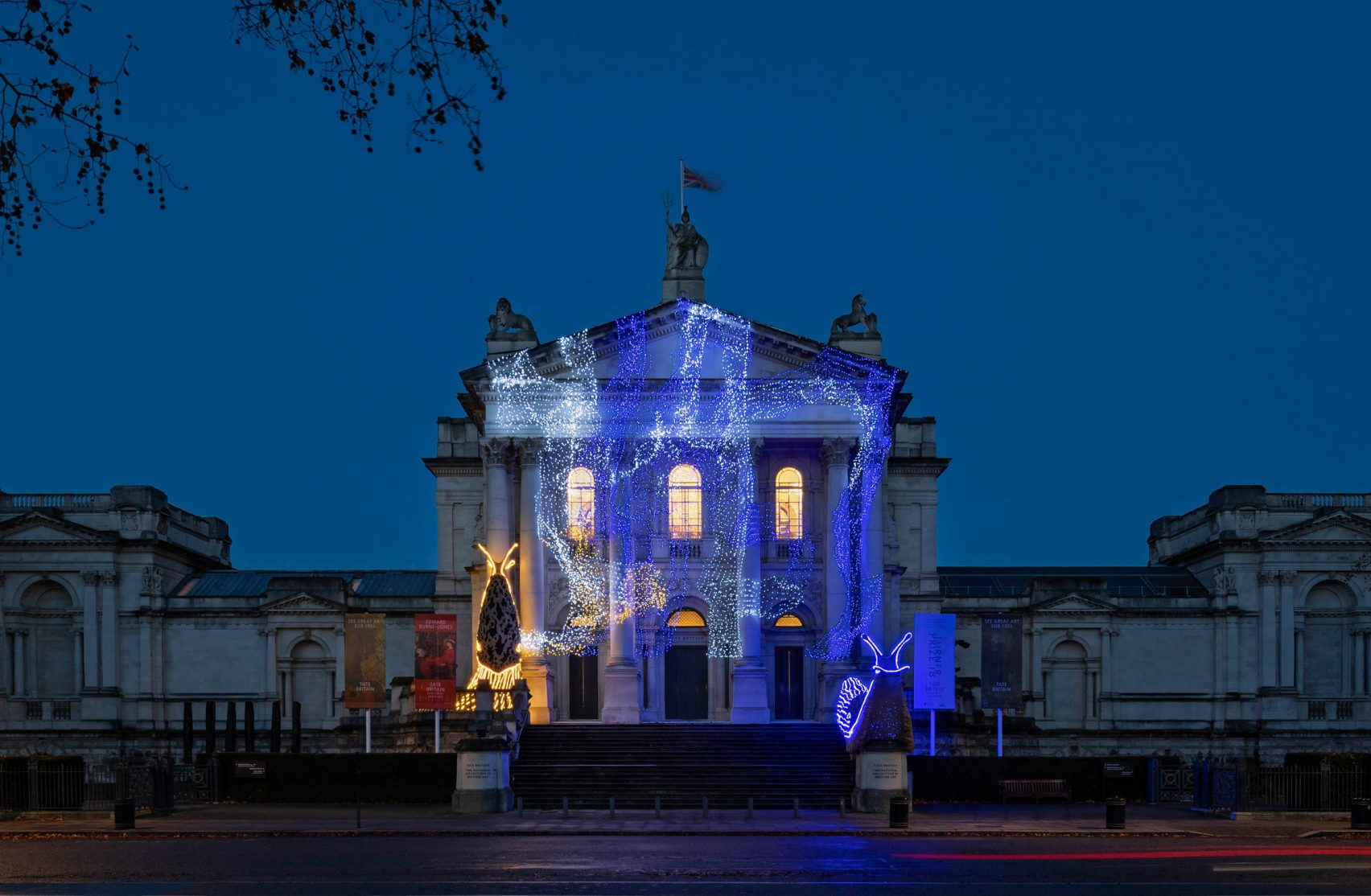 слизняки в искусстве слизнями, светящимися, гигантскими, украшен, Britain