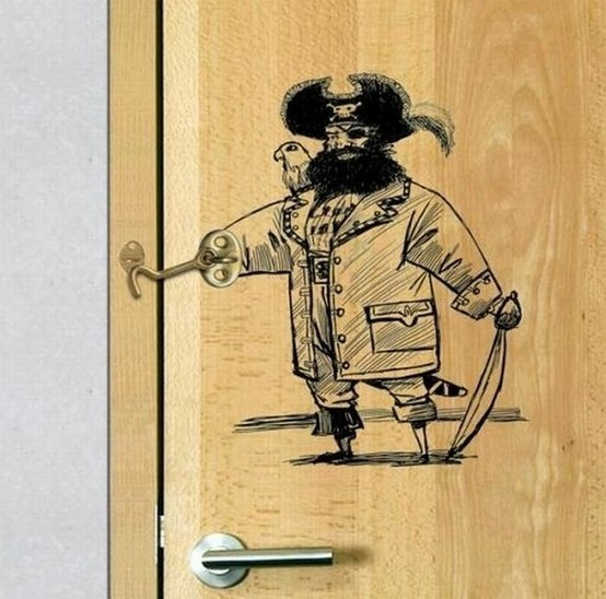 Двери прикольные картинки, смешной