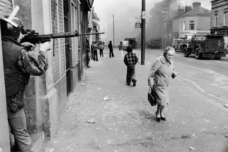 On the street in Belfast, 1978