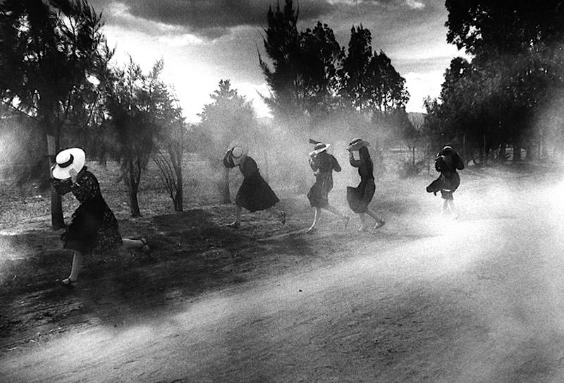 Larry Towell Dust Storm, Durango Colony, Durango, Mexico, 1994