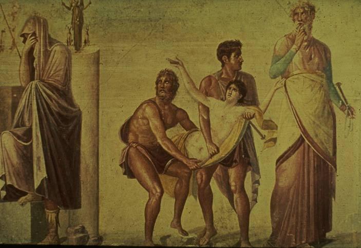 Ифигения в Авлиде Принесение в жертву