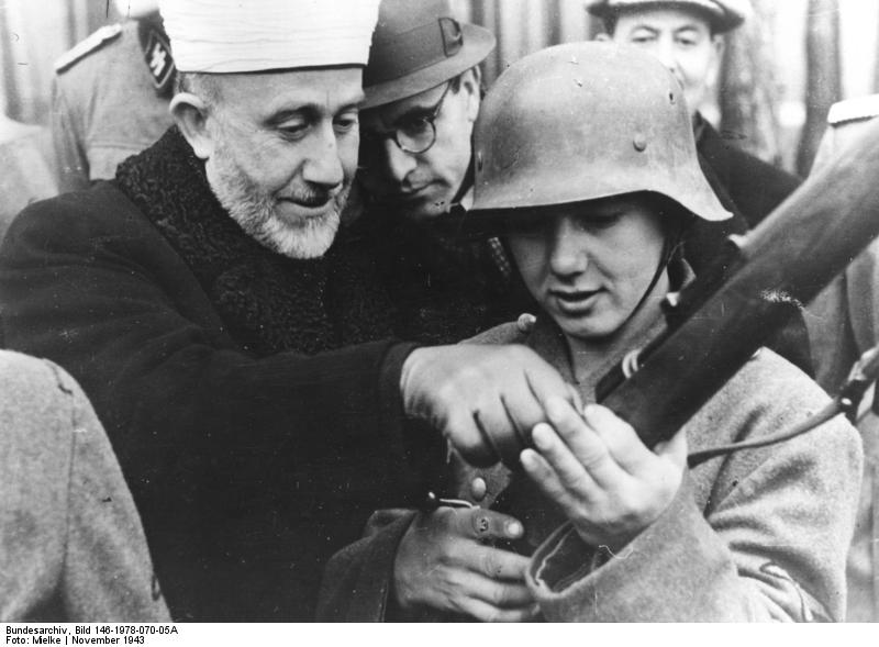 The Grand Mufti of Jerusalem, Amin al Husseini, instructing Bosnian volunteers of the Waffen SS, November 1943