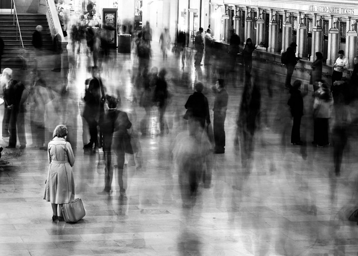 Waiting in Grand Central, 2003 by James Maher