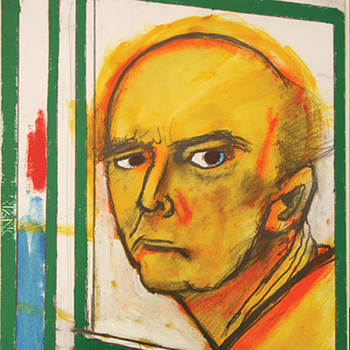 Self-Portrait with Easel (Yellow and Green), 1996