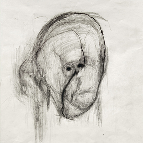 HeadI, 2000, pencil on paper